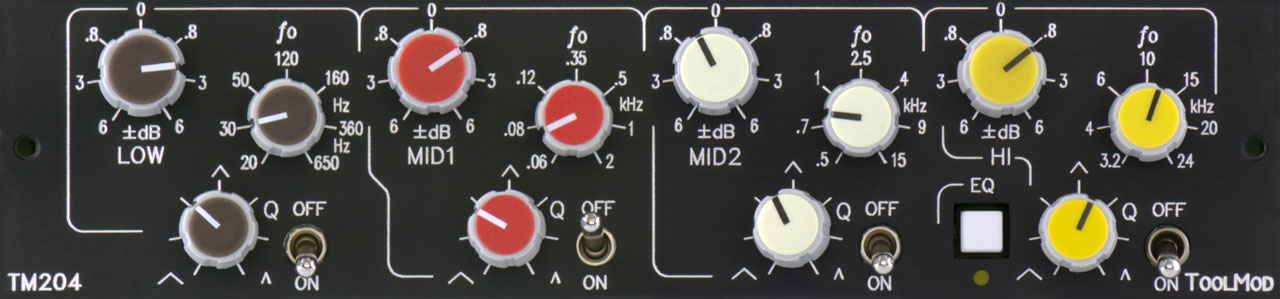 fully parametric 4-Band Stereo Mastering Equalizer