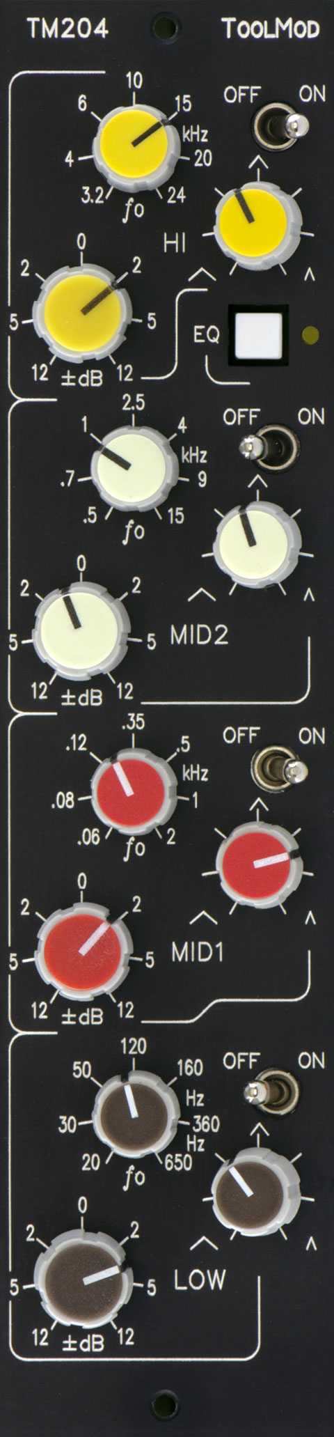 fully parametric 4-Band Stereo Mastering Equalizer TM204-12 v